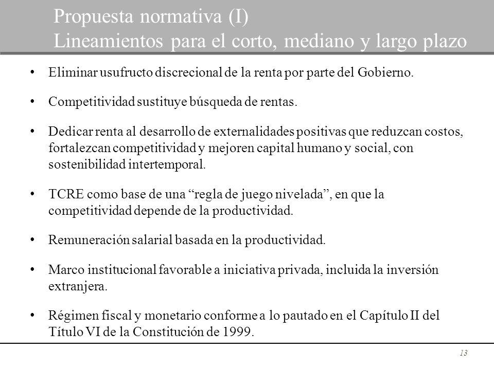 Propuesta normativa (I)
