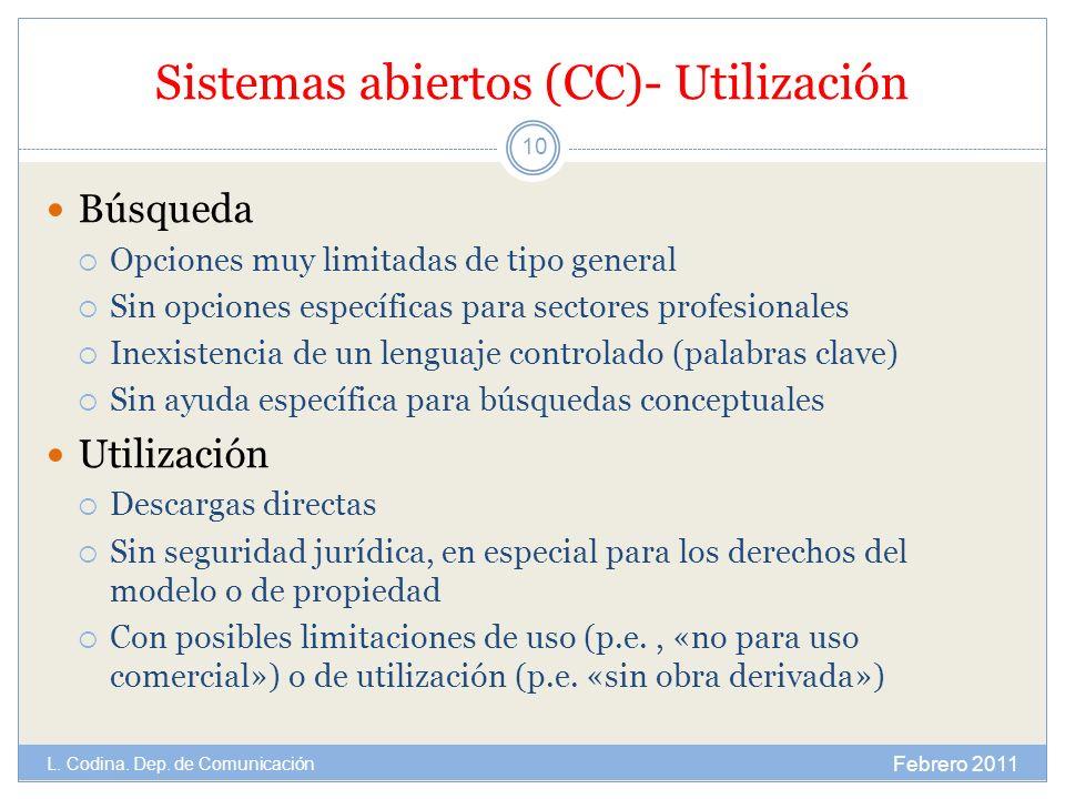 Sistemas abiertos (CC)- Utilización