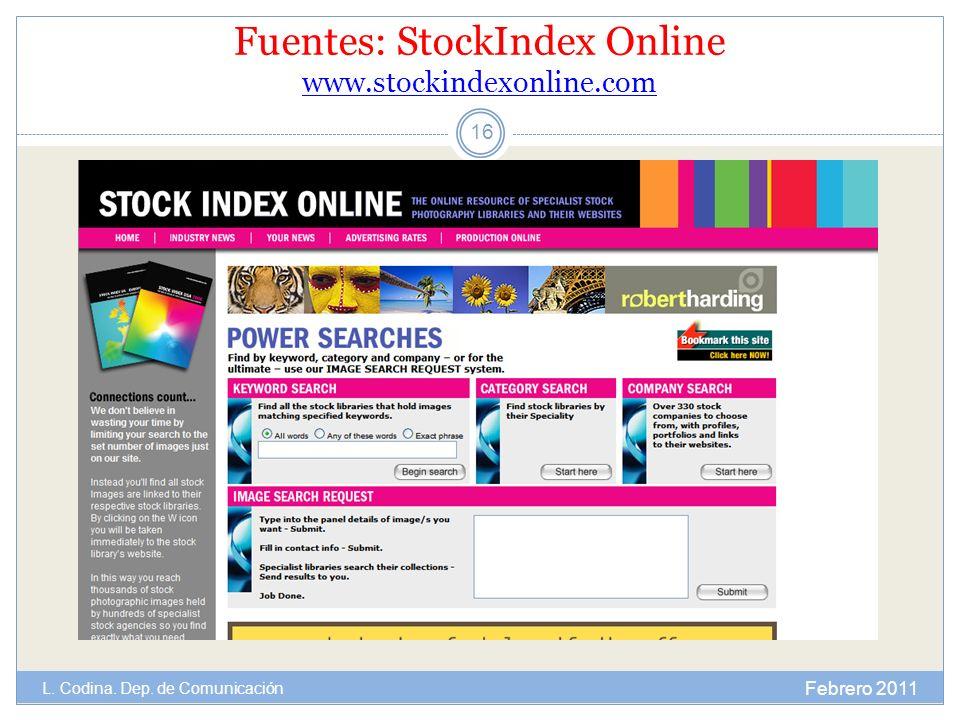 Fuentes: StockIndex Online www.stockindexonline.com