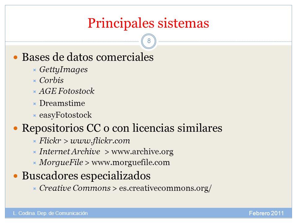 Principales sistemas Bases de datos comerciales