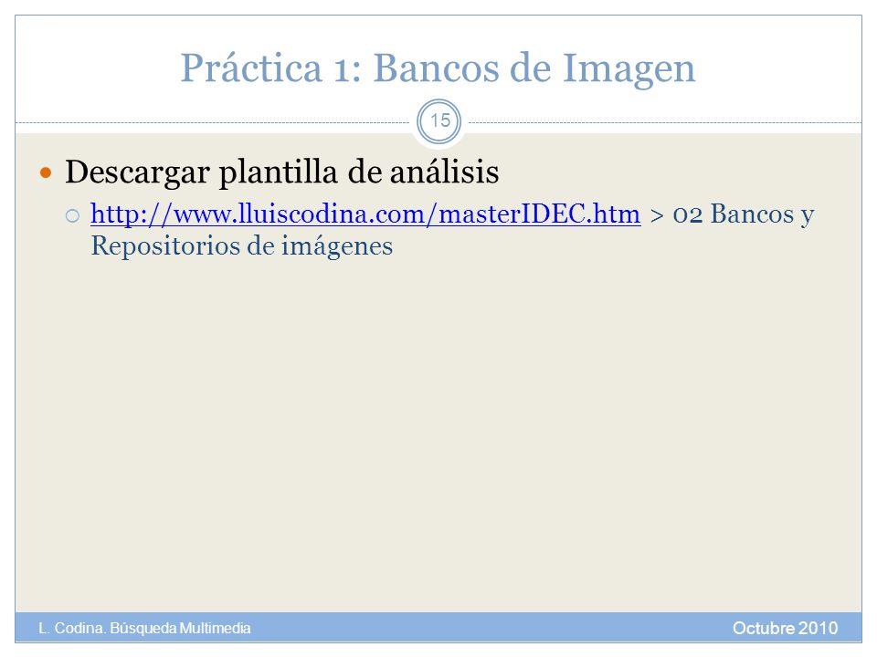 Práctica 1: Bancos de Imagen