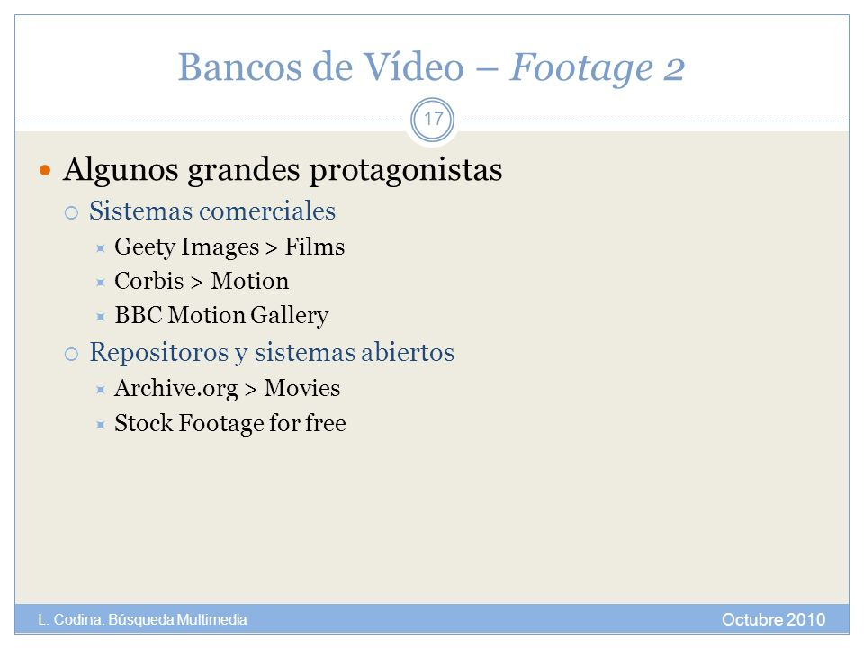 Bancos de Vídeo – Footage 2