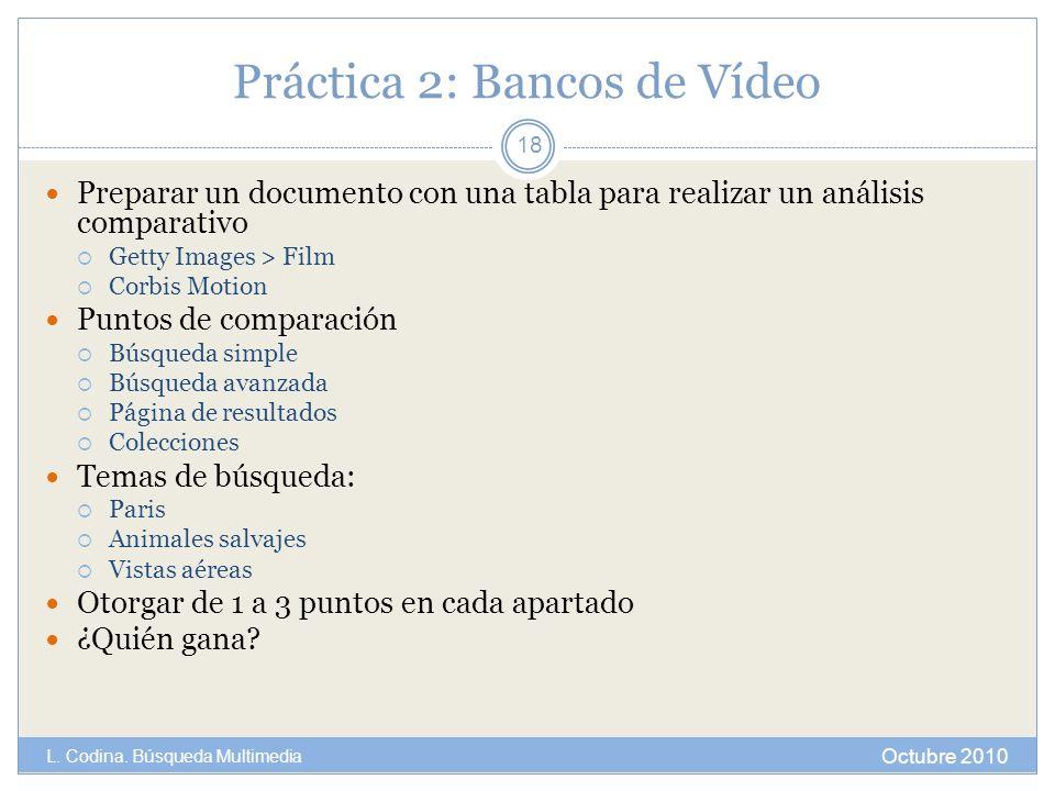 Práctica 2: Bancos de Vídeo