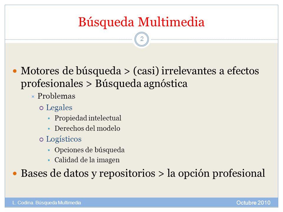 Búsqueda Multimedia Motores de búsqueda > (casi) irrelevantes a efectos profesionales > Búsqueda agnóstica.