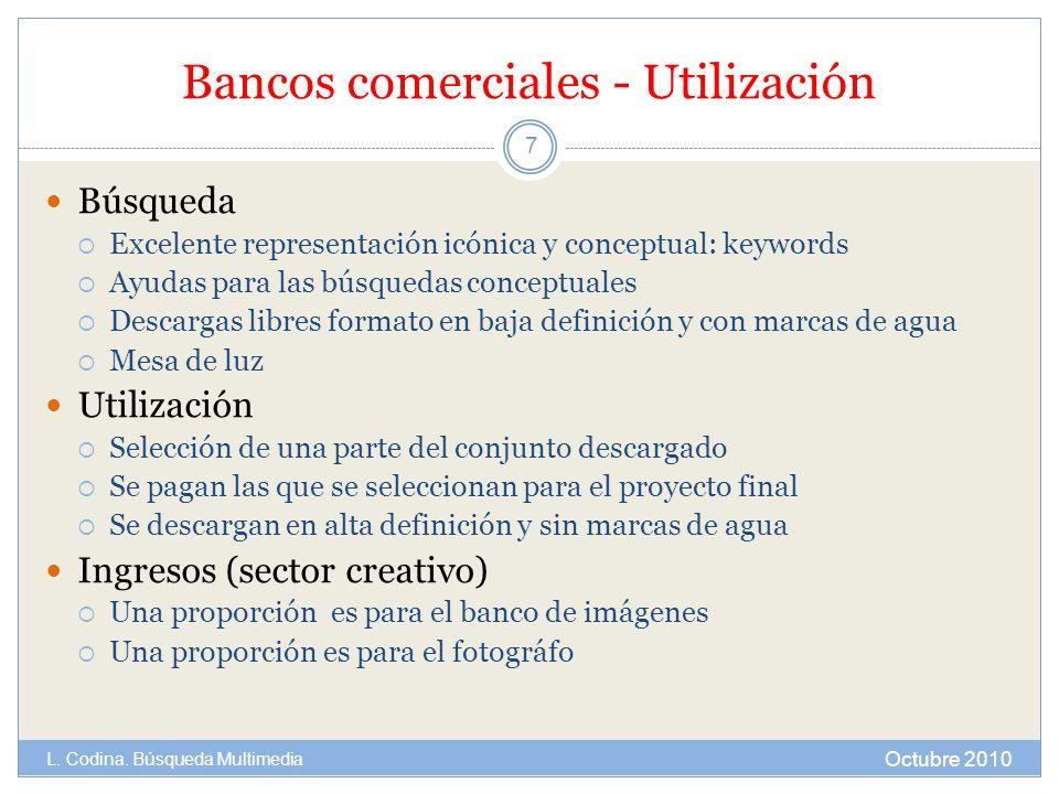 Bancos comerciales - Utilización