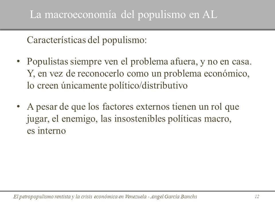 La macroeconomía del populismo en AL