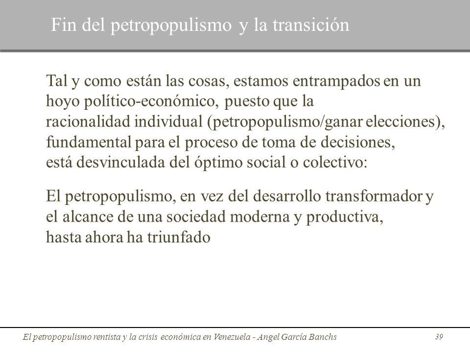 Fin del petropopulismo y la transición