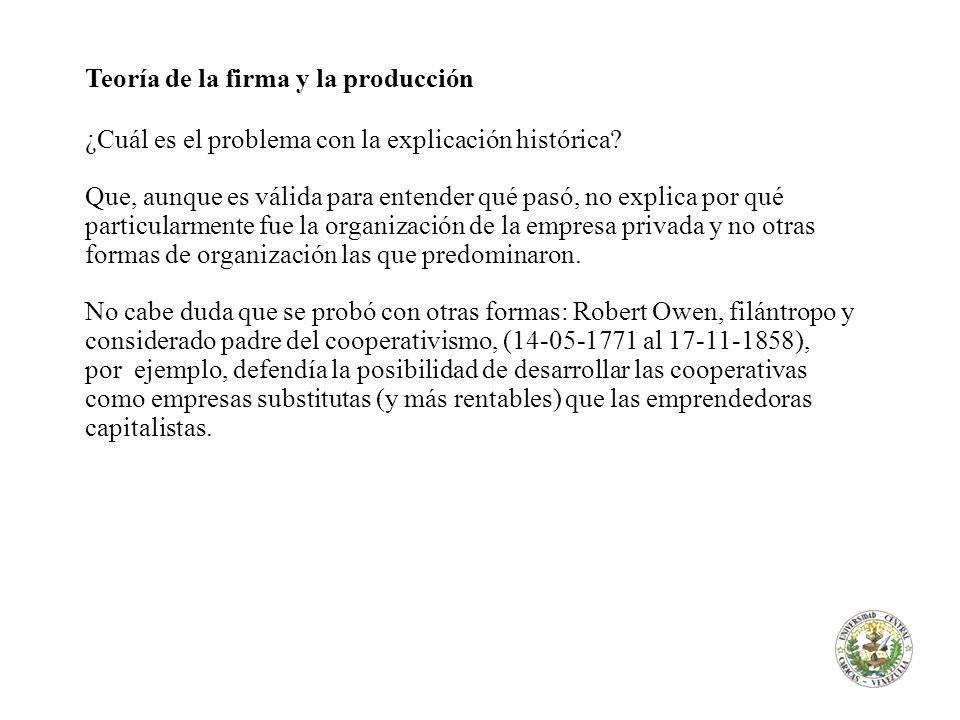 Teoría de la firma y la producción