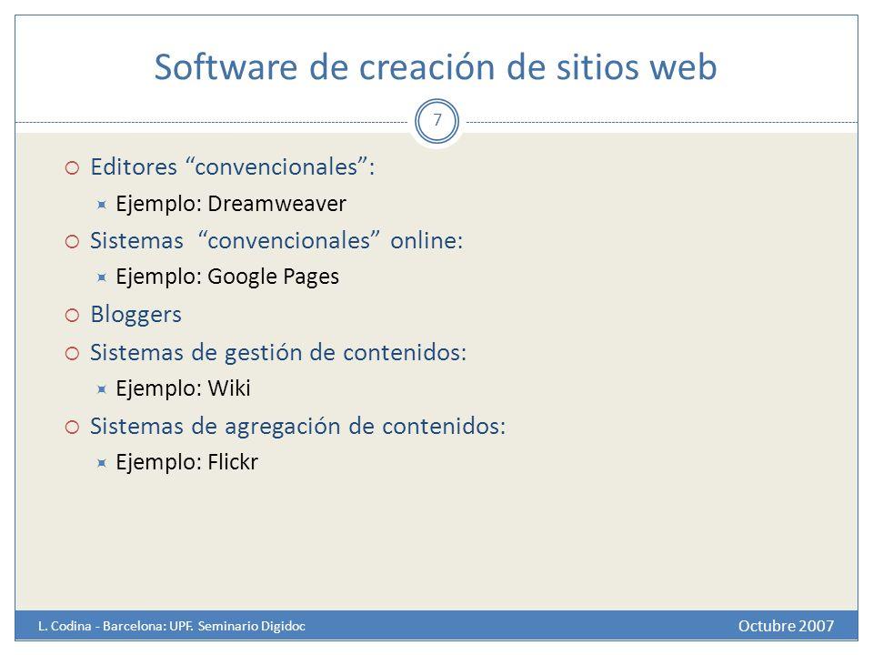 Software de creación de sitios web