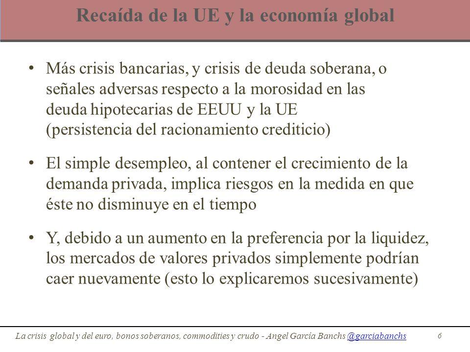 Recaída de la UE y la economía global