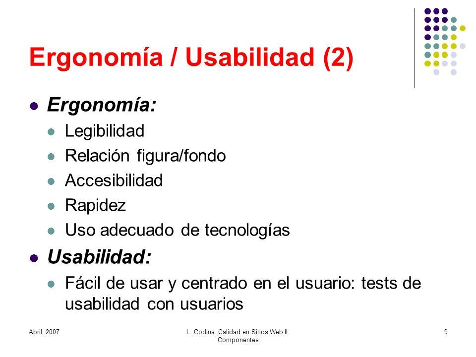 Ergonomía / Usabilidad (2)