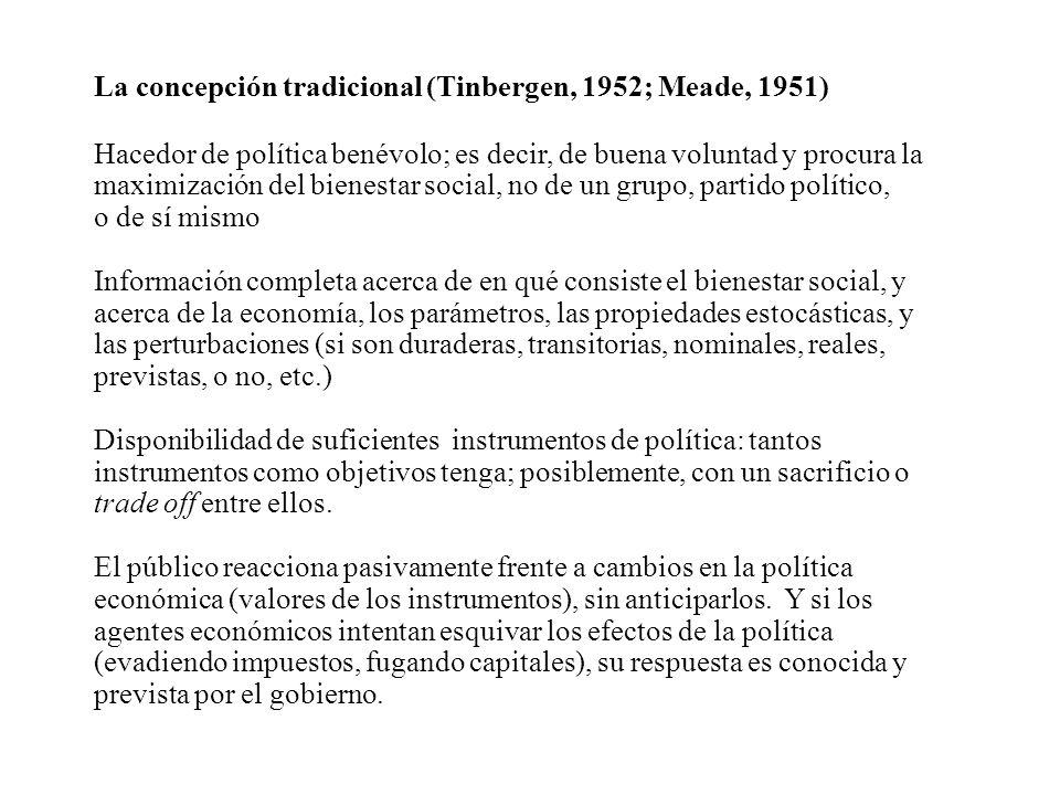 La concepción tradicional (Tinbergen, 1952; Meade, 1951)
