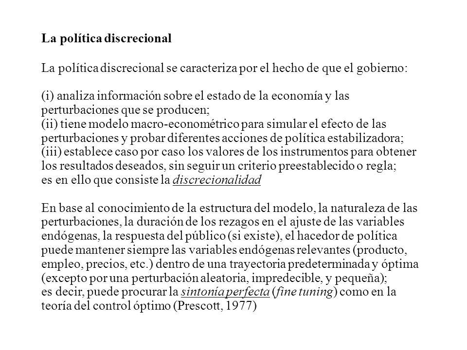 La política discrecional