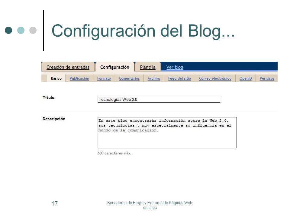 Configuración del Blog...
