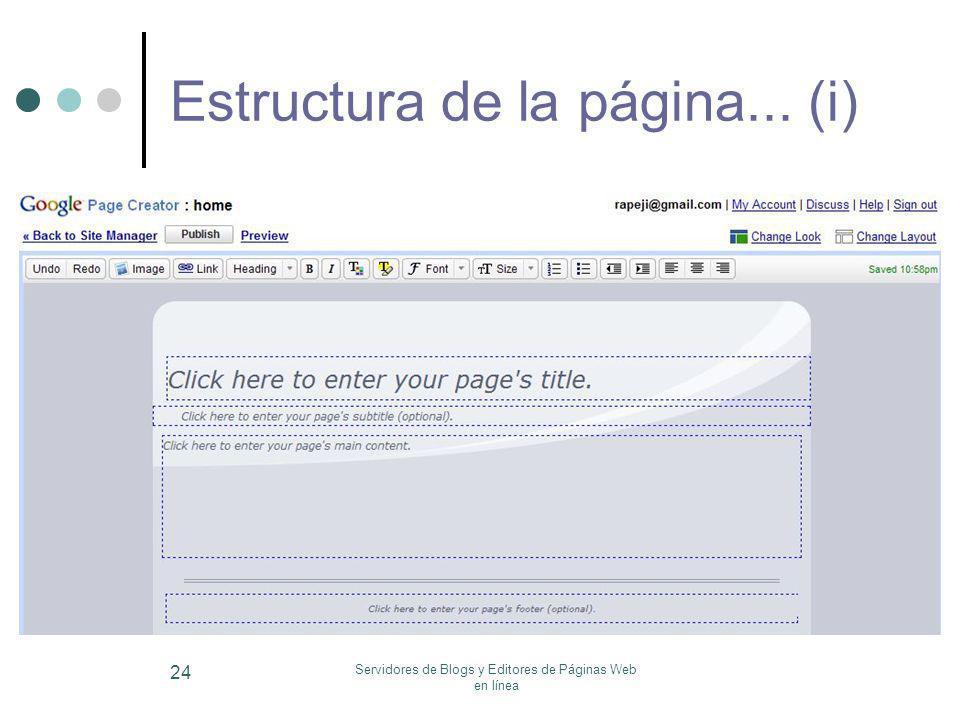 Estructura de la página... (i)