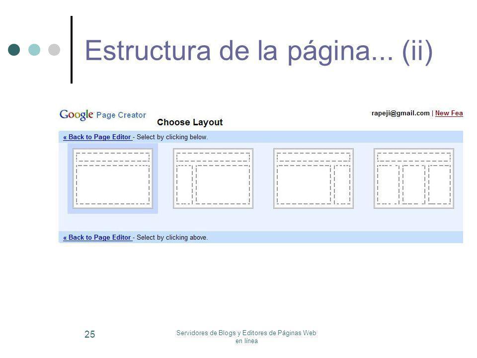 Estructura de la página... (ii)