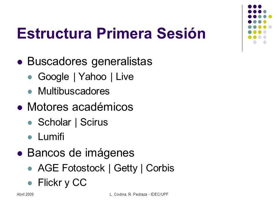 Estructura Primera Sesión