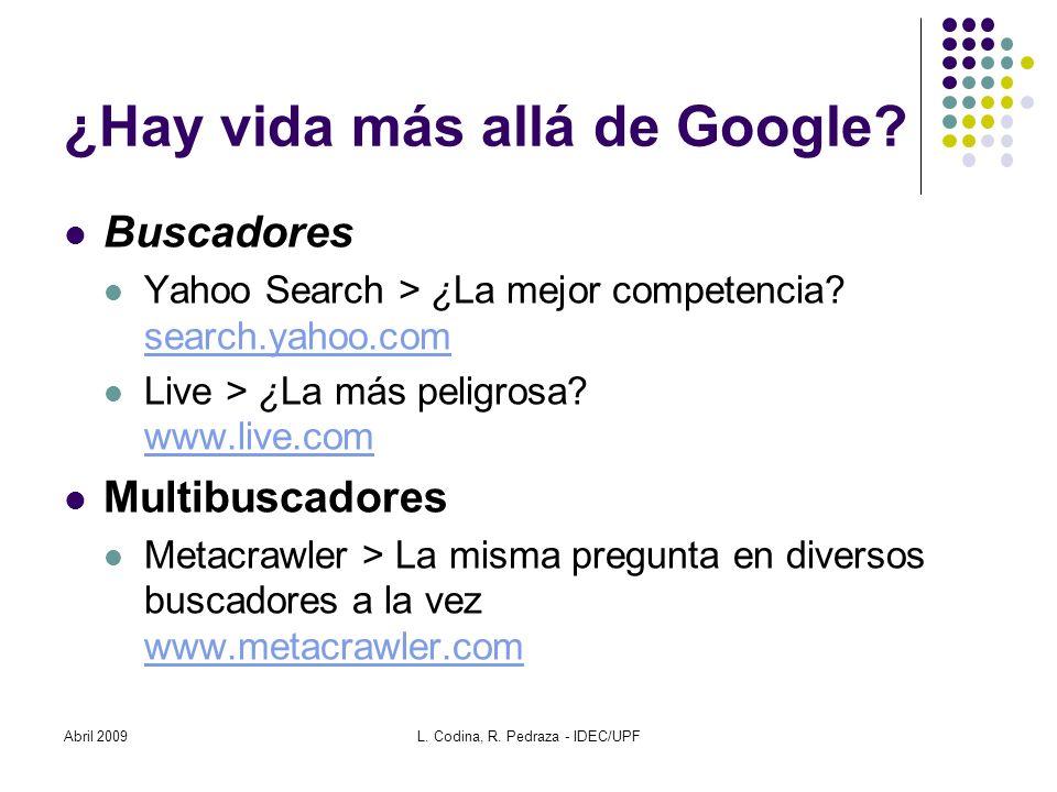 ¿Hay vida más allá de Google