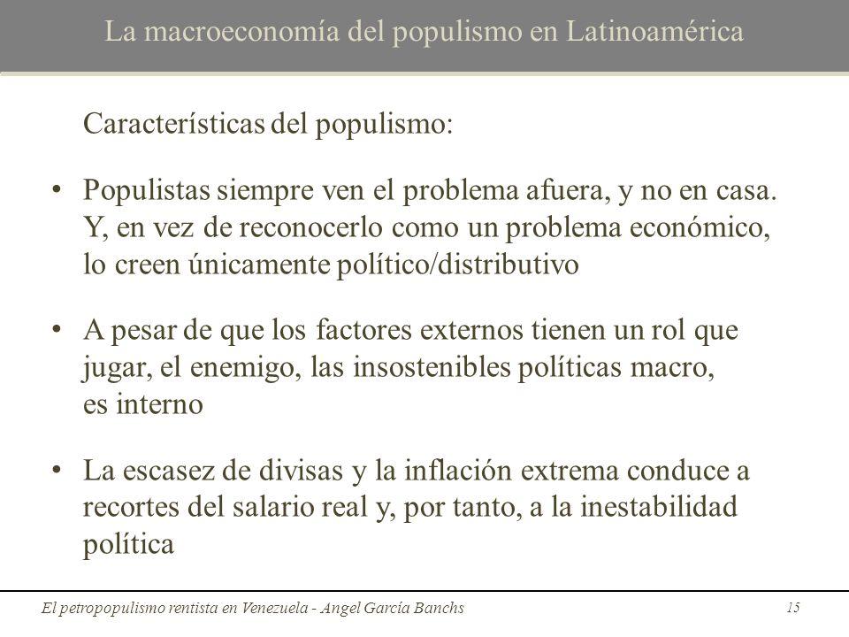 La macroeconomía del populismo en Latinoamérica