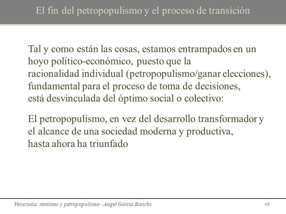 El fin del petropopulismo y el proceso de transición