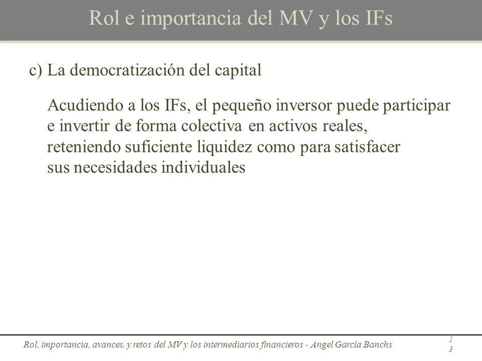 Rol e importancia del MV y los IFs