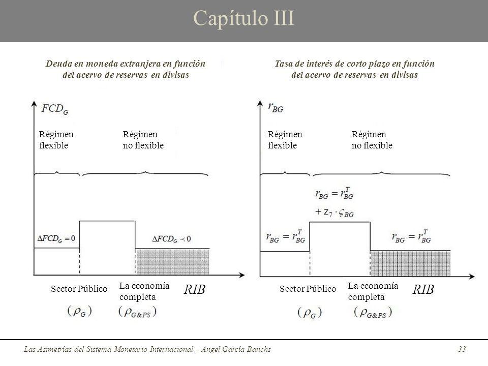 Capítulo III Deuda en moneda extranjera en función del acervo de reservas en divisas.