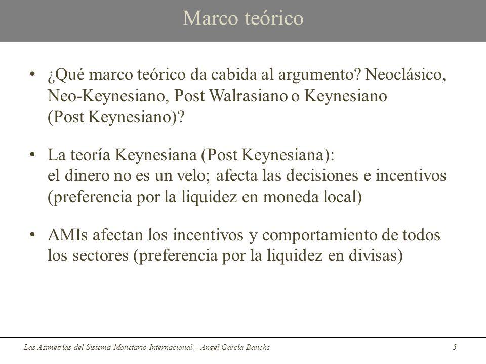 Marco teórico ¿Qué marco teórico da cabida al argumento Neoclásico, Neo-Keynesiano, Post Walrasiano o Keynesiano (Post Keynesiano)