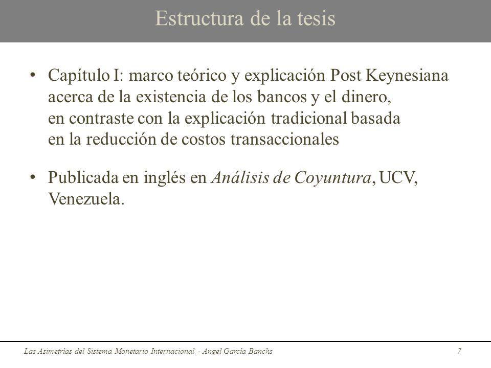 Estructura de la tesis