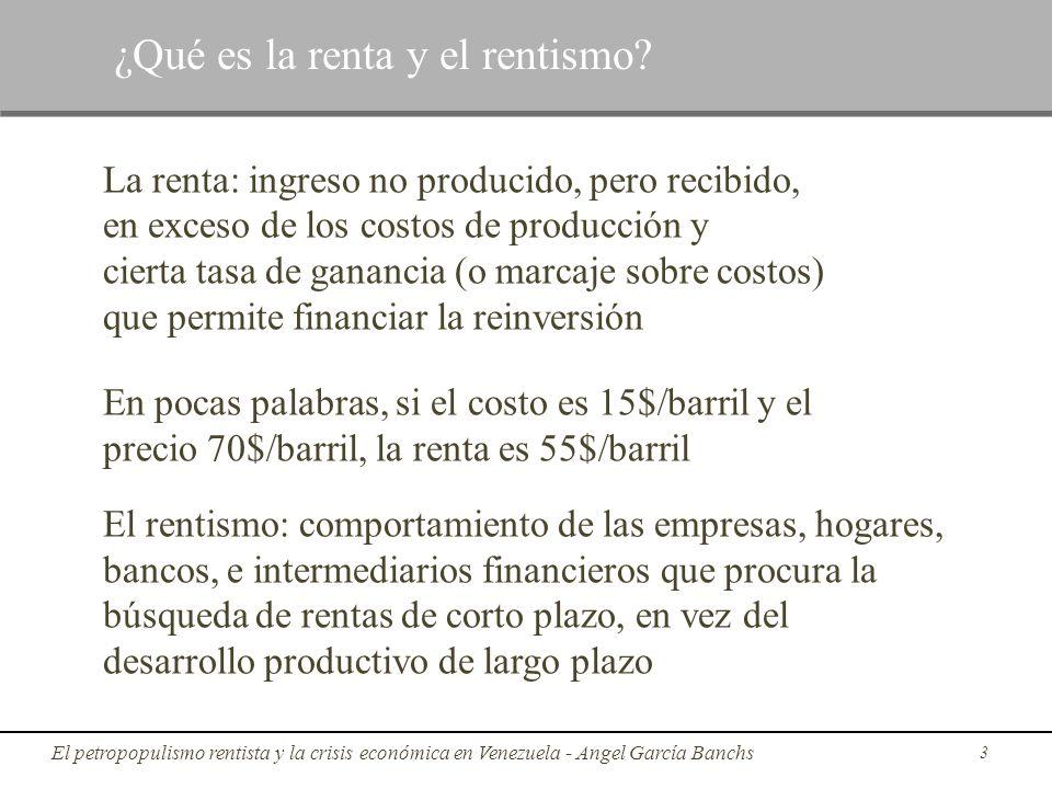 ¿Qué es la renta y el rentismo