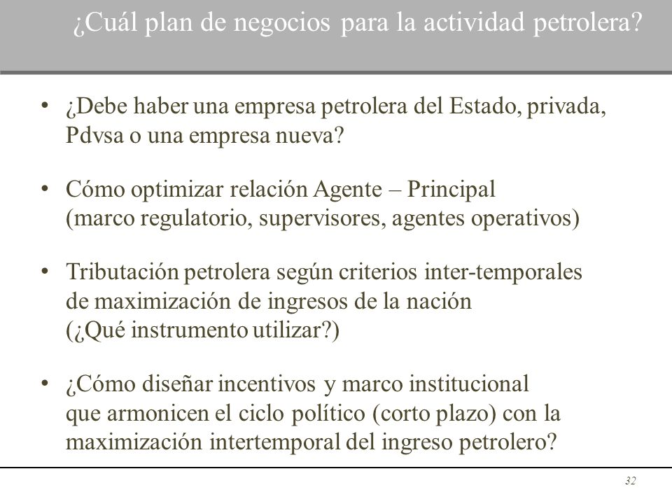 ¿Cuál plan de negocios para la actividad petrolera