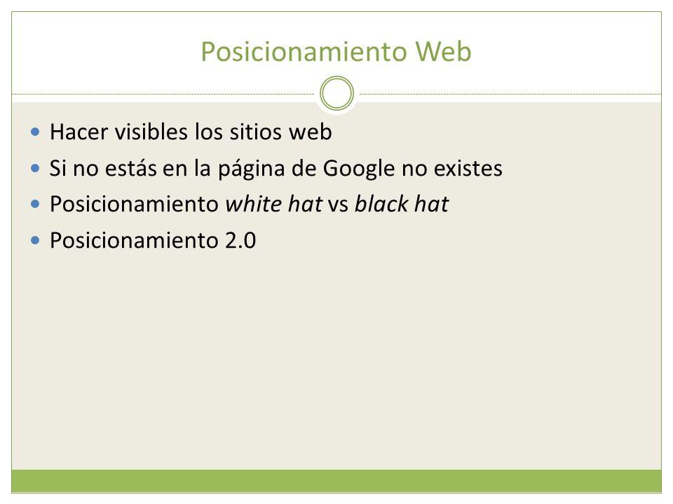 Posicionamiento Web Hacer visibles los sitios web