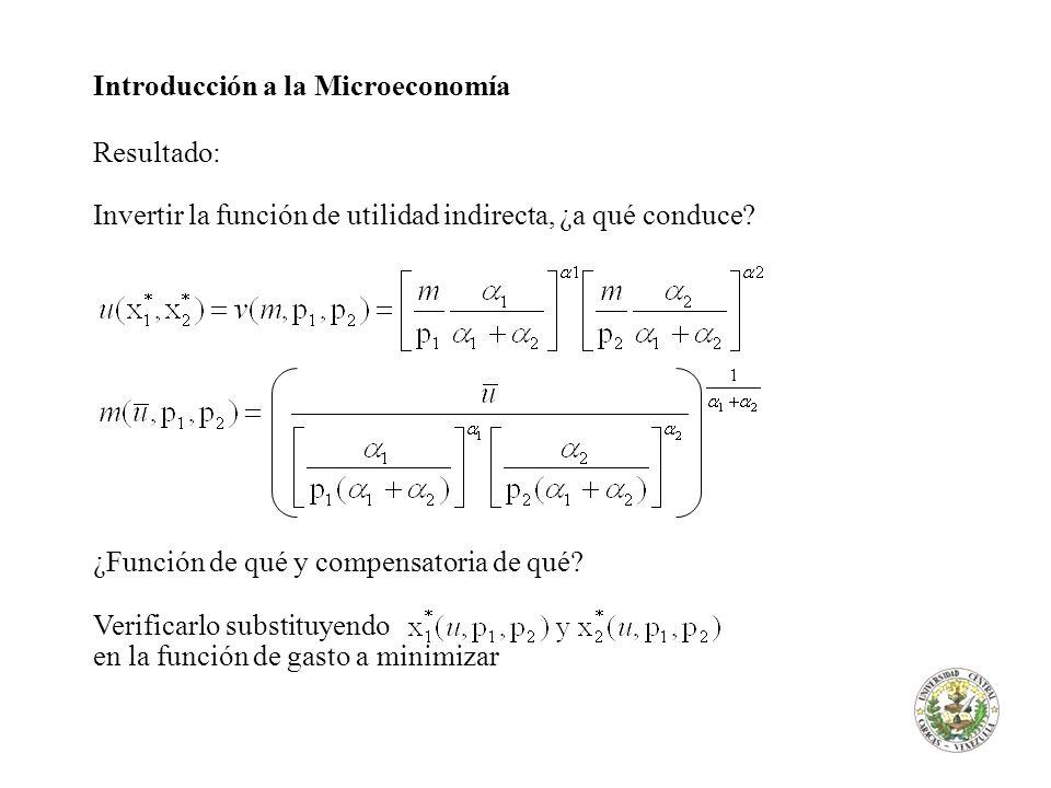 Introducción a la Microeconomía Resultado: