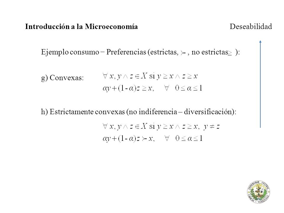 Introducción a la Microeconomía Deseabilidad