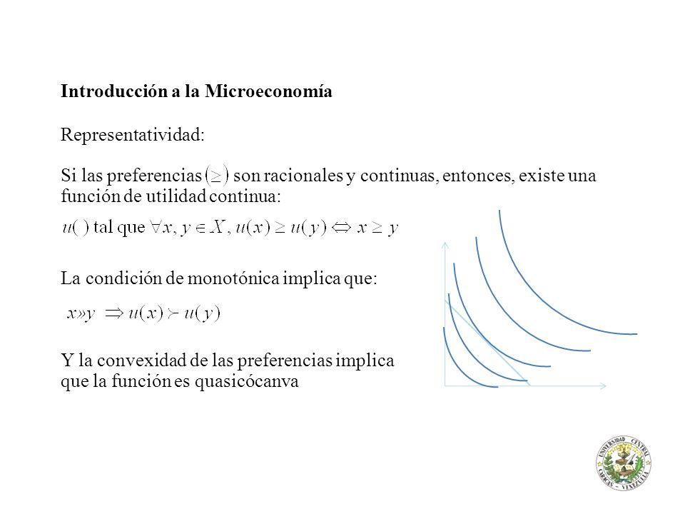 Introducción a la Microeconomía Representatividad: