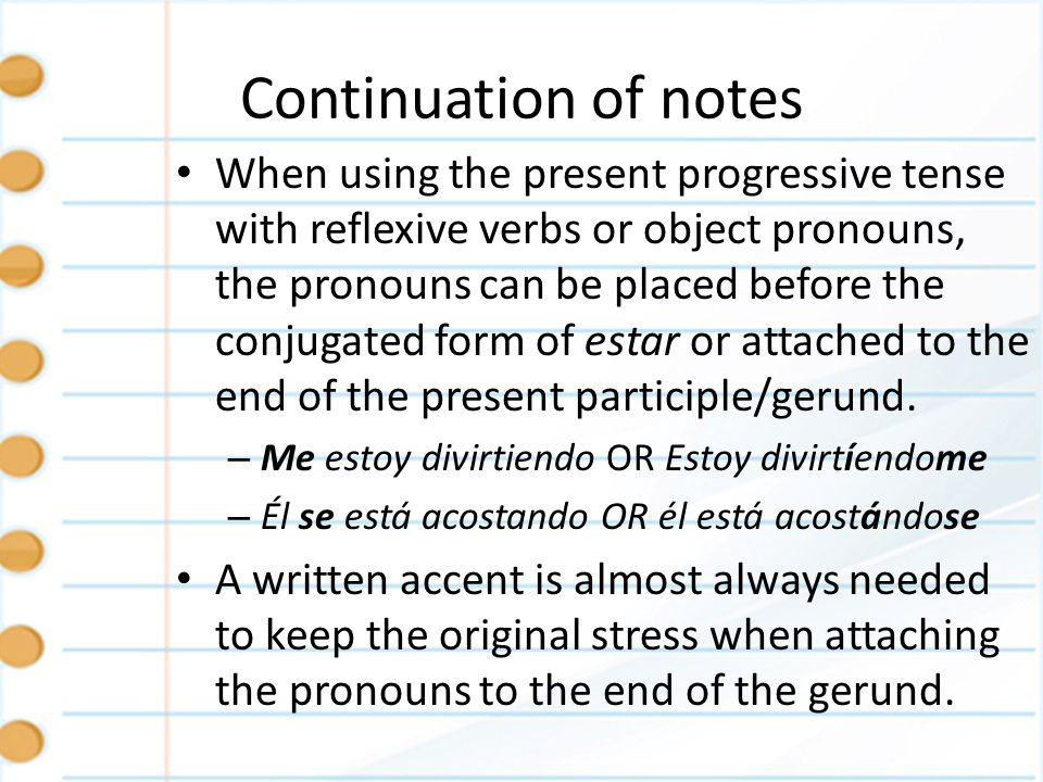 Continuation of notes