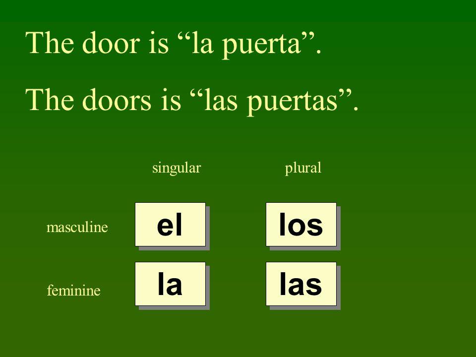 The doors is las puertas .