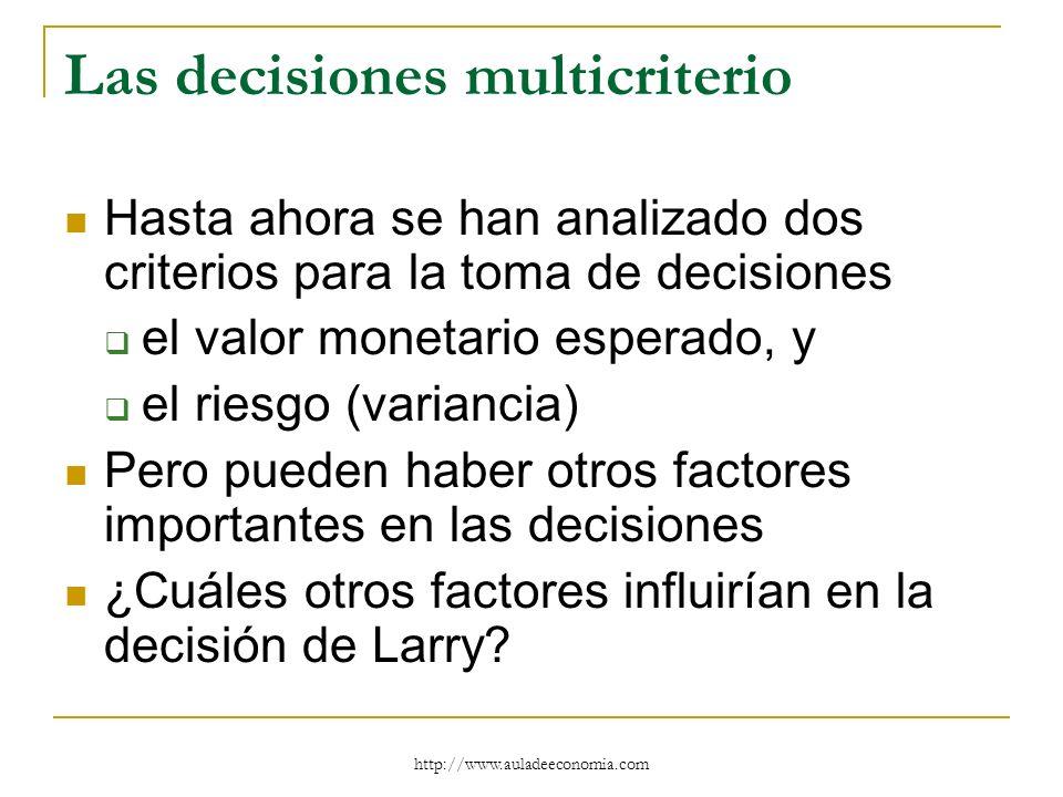 Las decisiones multicriterio