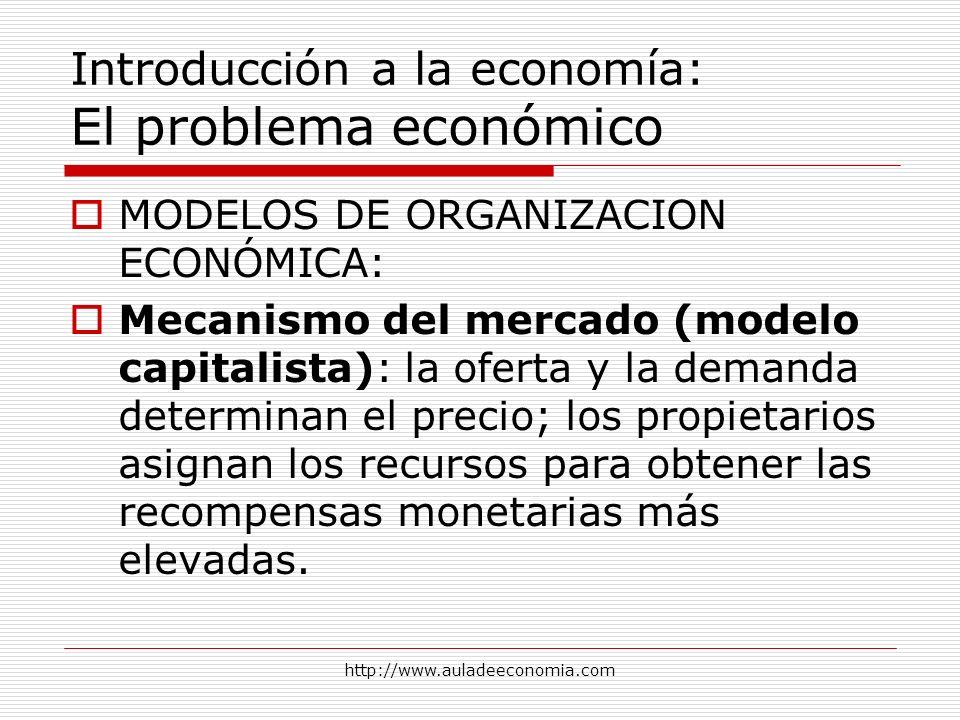 Introducción a la economía: El problema económico