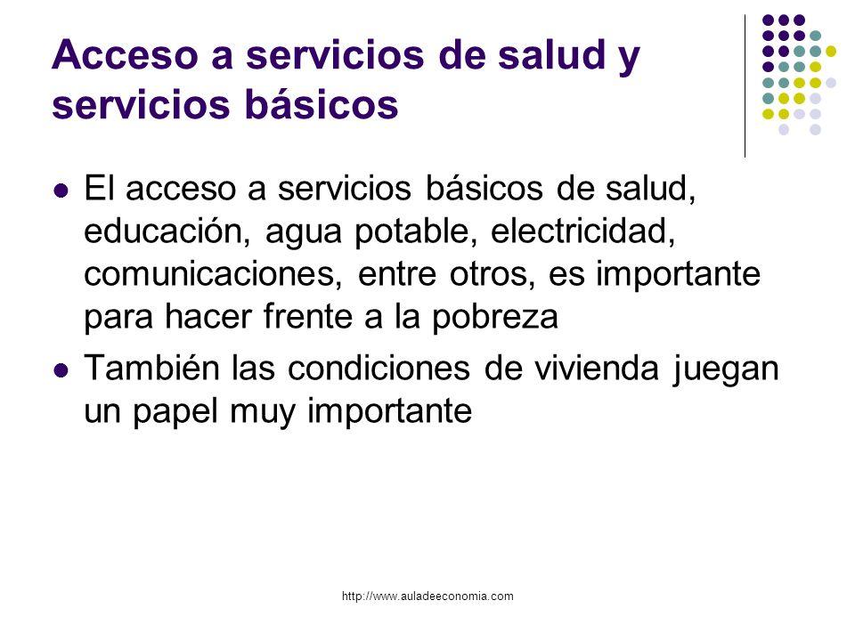 Acceso a servicios de salud y servicios básicos