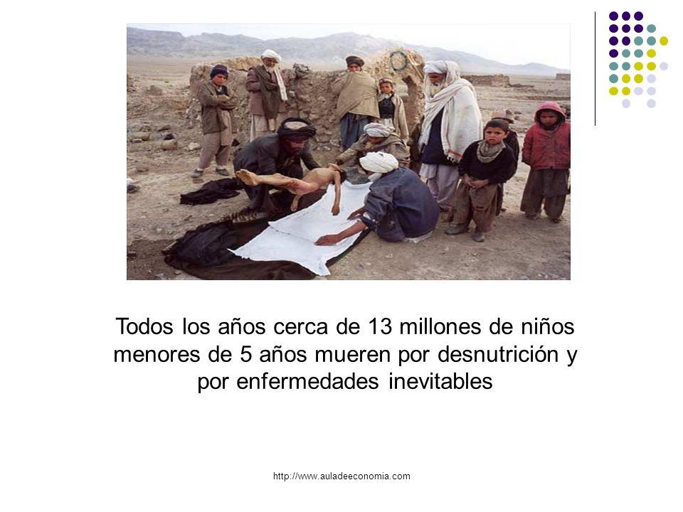 Todos los años cerca de 13 millones de niños menores de 5 años mueren por desnutrición y por enfermedades inevitables