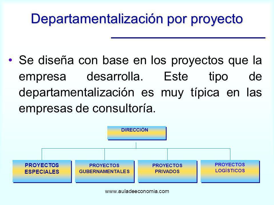 Departamentalización por proyecto