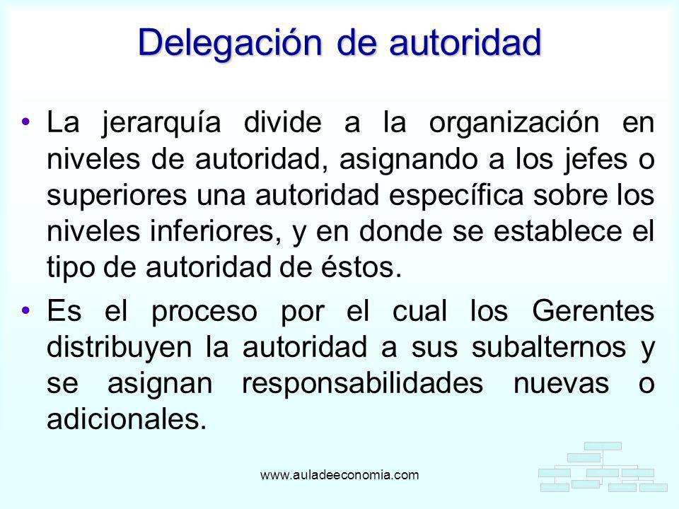 Delegación de autoridad