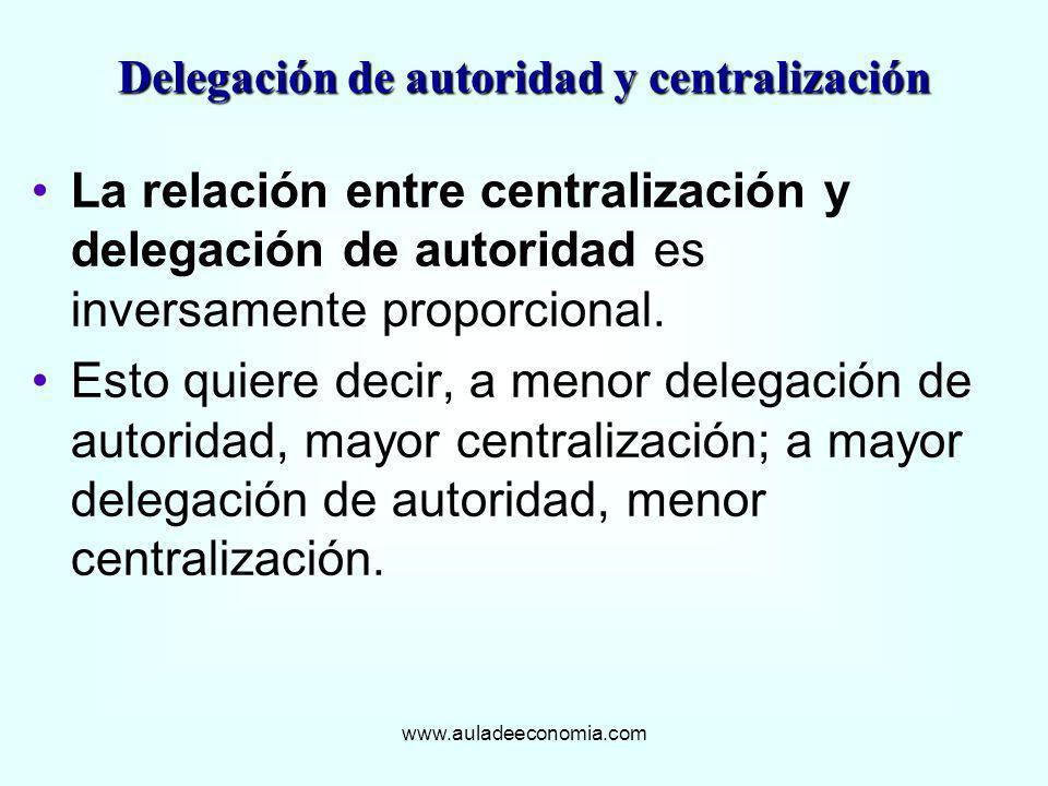Delegación de autoridad y centralización