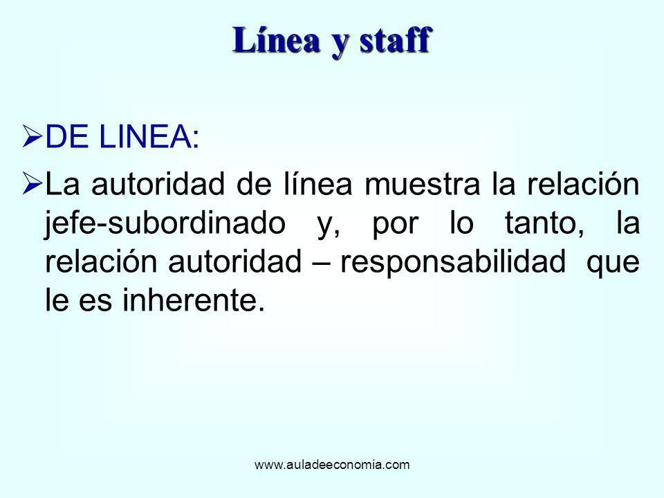 Línea y staffDE LINEA: