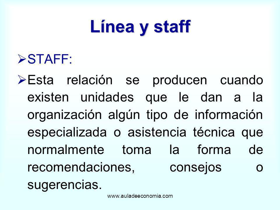 Línea y staff STAFF: