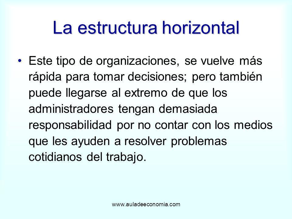 La estructura horizontal