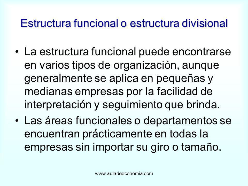 Estructura funcional o estructura divisional