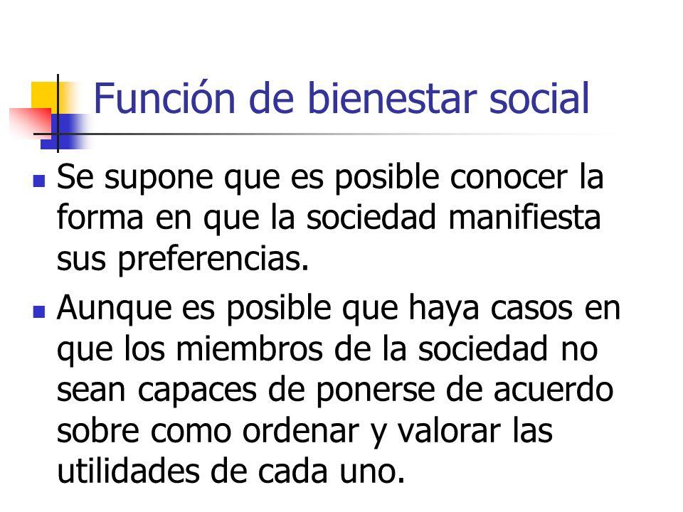 Función de bienestar social