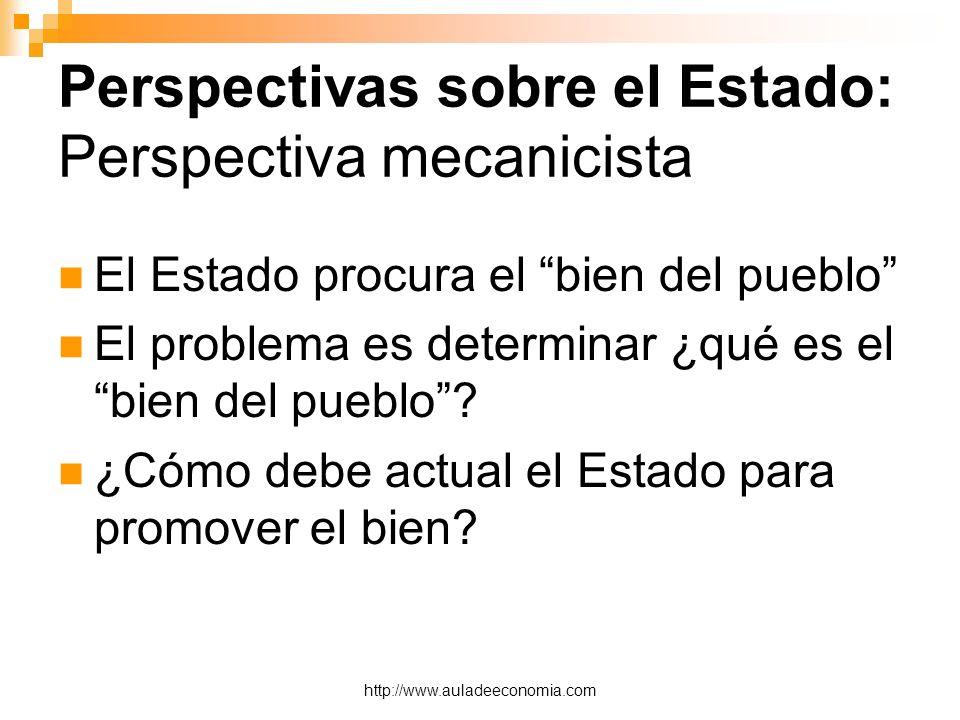 Perspectivas sobre el Estado: Perspectiva mecanicista