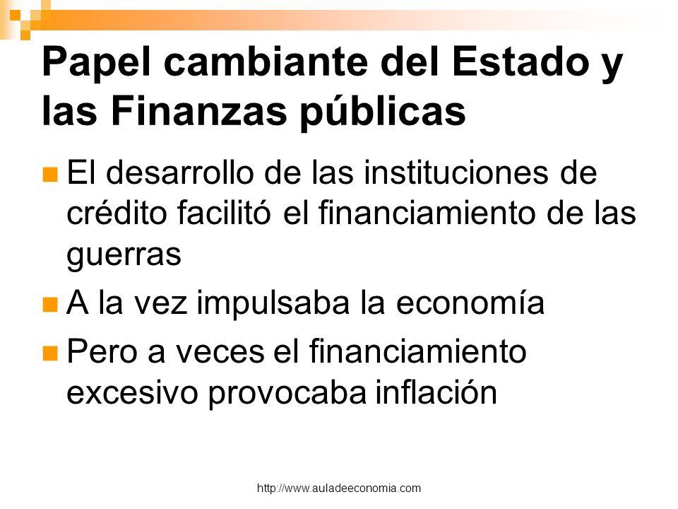 Papel cambiante del Estado y las Finanzas públicas